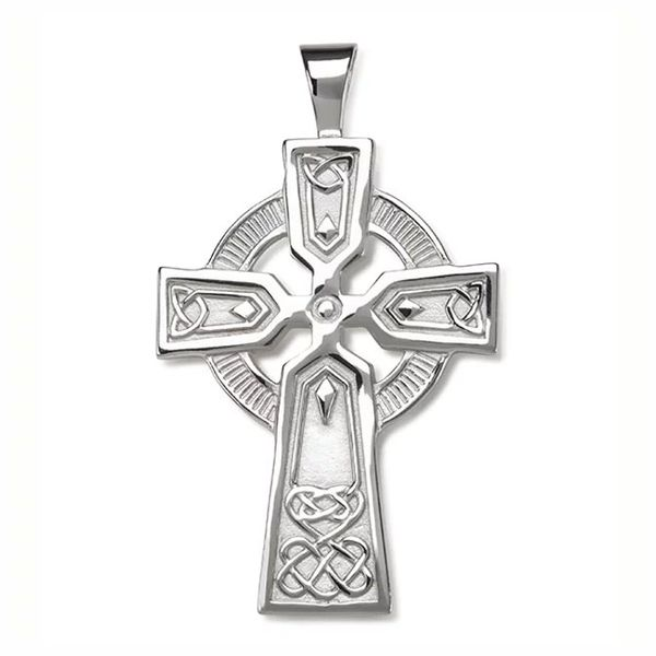Sterling Silver Solid Celtic Medium Cross Pendant Quality Gem LLC Bethel, CT