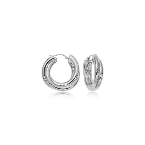 Sterling Silver Triple Tube Twist Earrings Quality Gem, LLC Bethel, CT