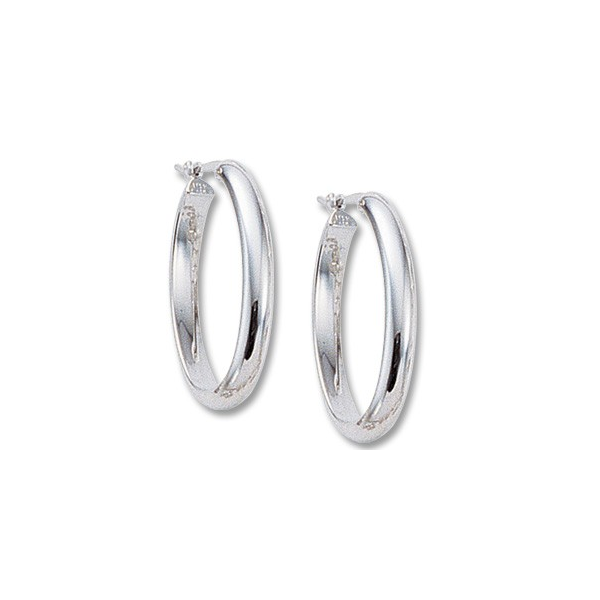 Sterling Silver Oval Triangle Earrings Image 2 Quality Gem, LLC Bethel, CT