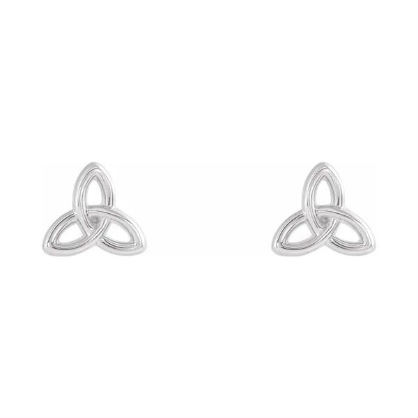 Sterling Silver Celtic Trinity Stud Earrings Quality Gem, LLC Bethel, CT