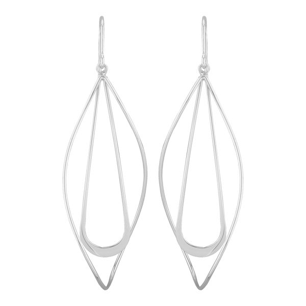 Sterling Silver Double Teardrop Dangle Earrings Quality Gem LLC Bethel, CT