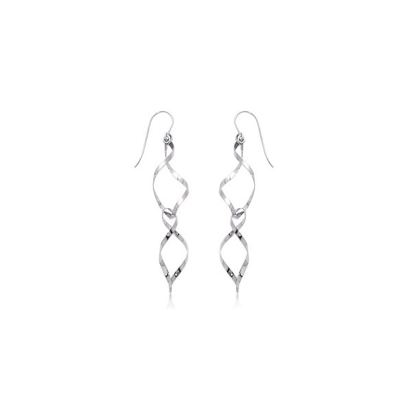 Sterling Silver Double Spiral Drop Earrings Quality Gem LLC Bethel, CT
