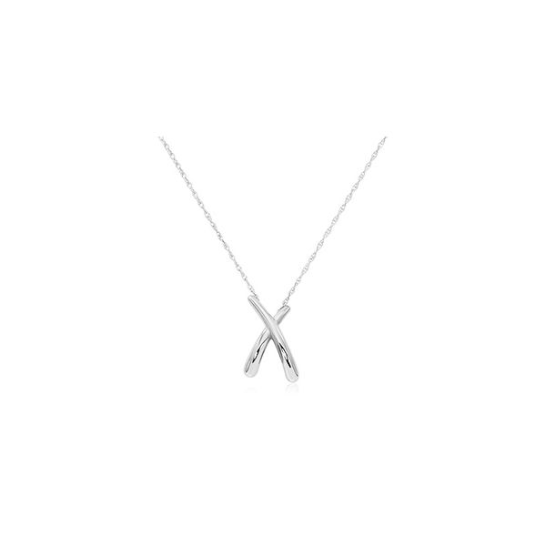 Sterling Silver X Necklace Quality Gem, LLC Bethel, CT