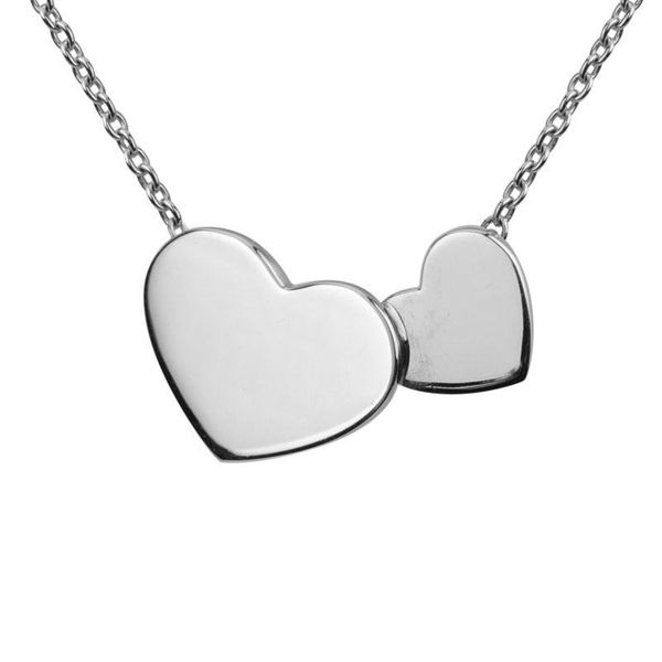 Sterling Silver Double Heart Necklace Quality Gem LLC Bethel, CT