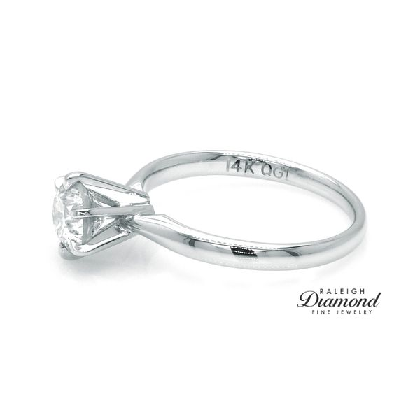 14k White Gold 1.15 Carat Diamond Solitaire Engagement Ring Image 3 Raleigh Diamond Raleigh, NC