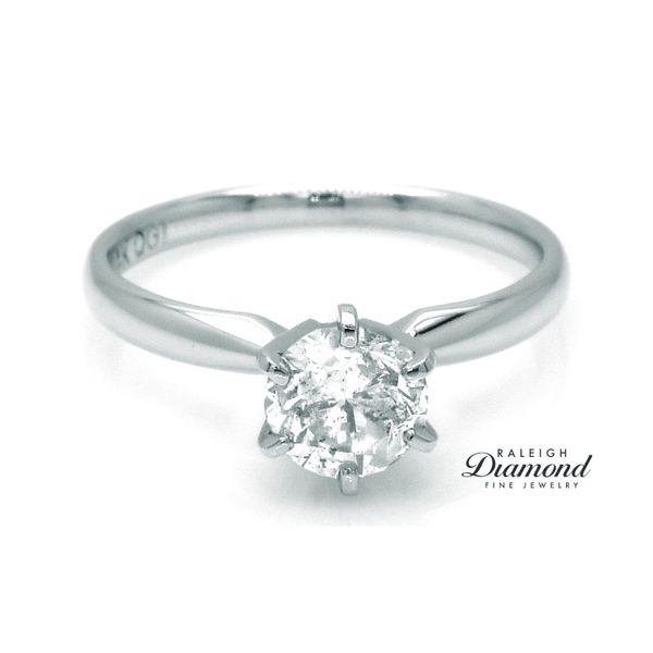 14k White Gold 1.15 Carat Diamond Solitaire Engagement Ring Raleigh Diamond Raleigh, NC