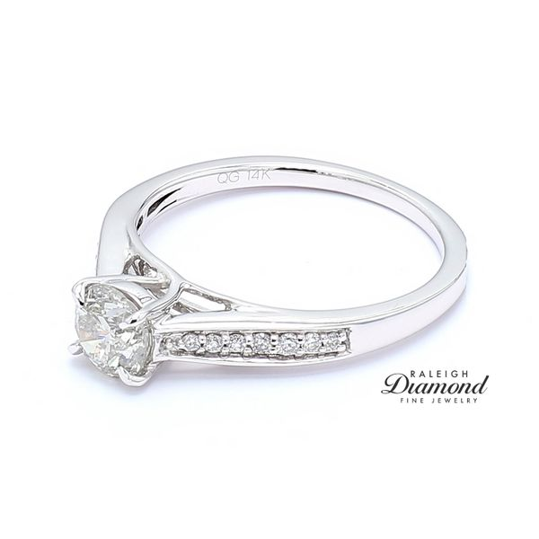 14k White Gold 0.80CTTW Diamond Engagement Ring Image 2 Raleigh Diamond Raleigh, NC