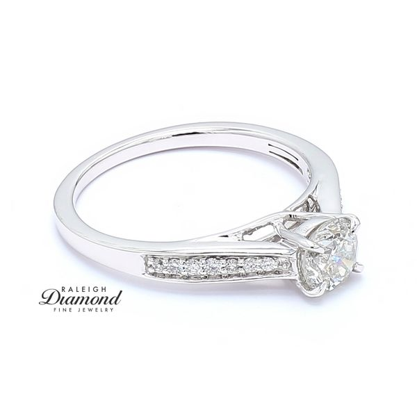 14k White Gold 0.80CTTW Diamond Engagement Ring Image 3 Raleigh Diamond Raleigh, NC