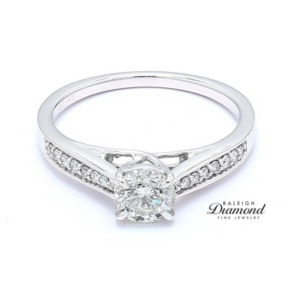 14k White Gold 0.80CTTW Diamond Engagement Ring Raleigh Diamond Raleigh, NC