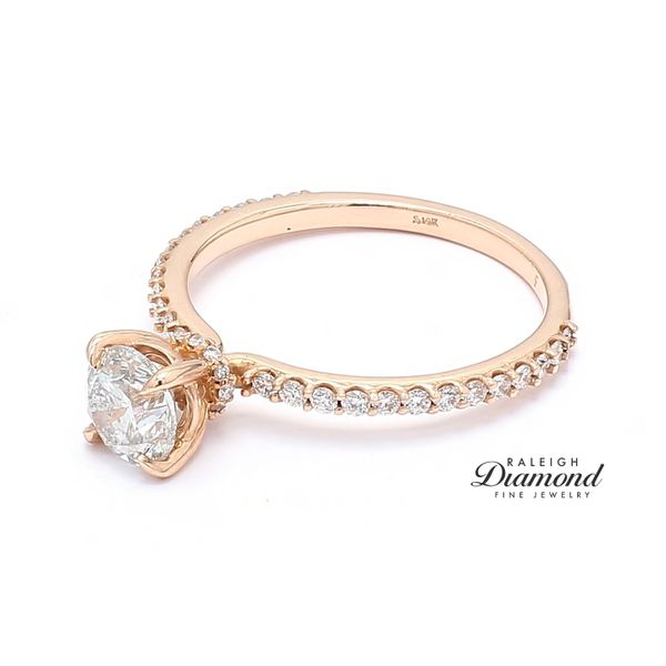 14k Rose Gold 1.23CTTW Diamond Engagement Ring Image 2 Raleigh Diamond Raleigh, NC