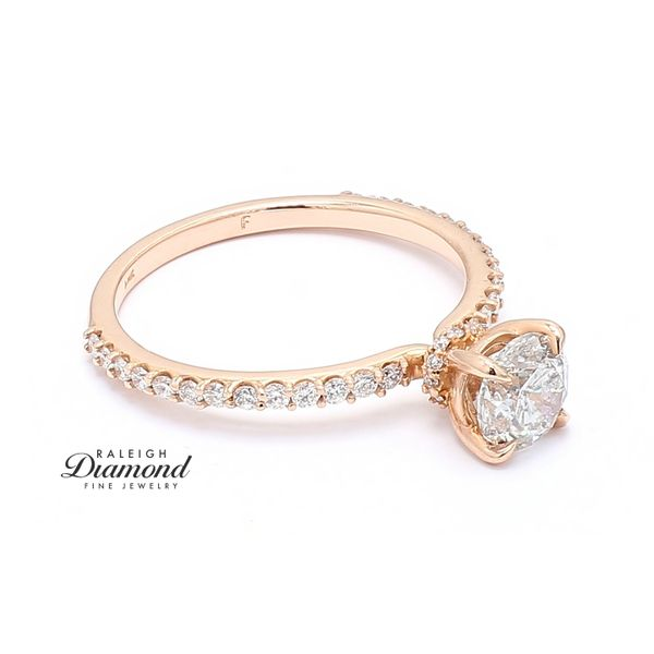 14k Rose Gold 1.23CTTW Diamond Engagement Ring Image 3 Raleigh Diamond Raleigh, NC