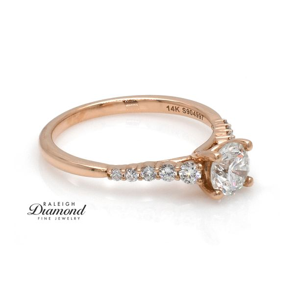 14k Rose Gold 0.94cttw Diamond Engagement Ring by Gabriel Image 4 Raleigh Diamond Raleigh, NC