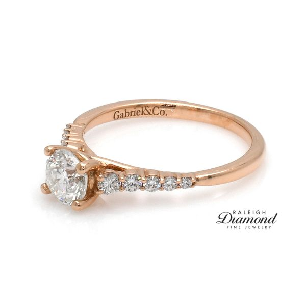 14k Rose Gold 0.94cttw Diamond Engagement Ring by Gabriel Raleigh Diamond Raleigh, NC