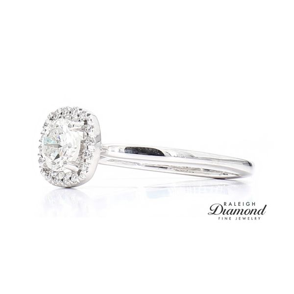 14k White Gold 0.68 Carat Diamond Engagement Ring Image 2 Raleigh Diamond Raleigh, NC