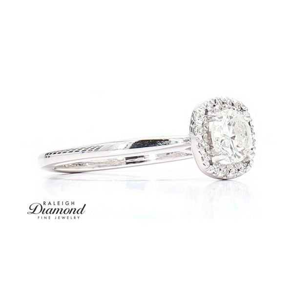 14k White Gold 0.68 Carat Diamond Engagement Ring Image 3 Raleigh Diamond Raleigh, NC
