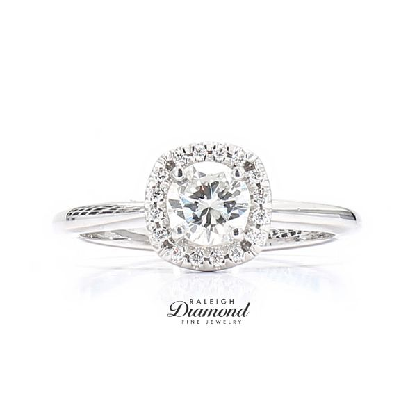 14k White Gold 0.68 Carat Diamond Engagement Ring Raleigh Diamond Raleigh, NC