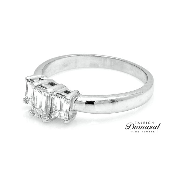 Estate Platinum 0.90CTW Diamond Three Stone Ring Image 2 Raleigh Diamond Raleigh, NC