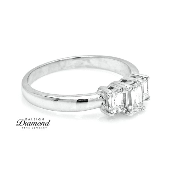Estate Platinum 0.90CTW Diamond Three Stone Ring Image 3 Raleigh Diamond Raleigh, NC