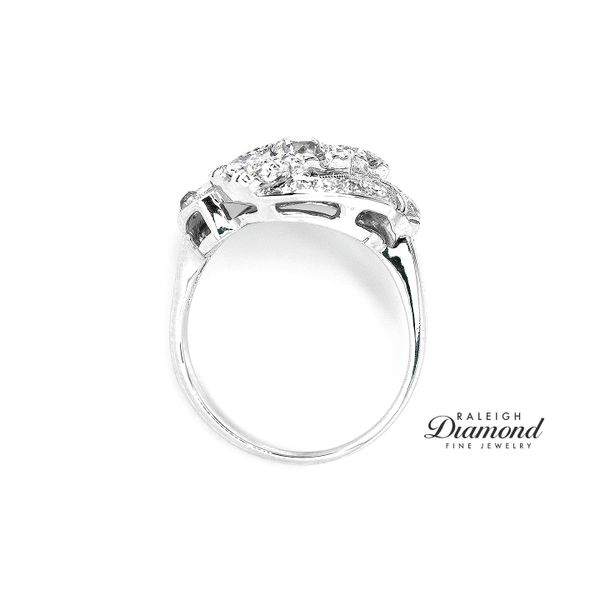 Vintage Bypass Cocktail Diamond Ring 14k White Gold Image 4 Raleigh Diamond Raleigh, NC