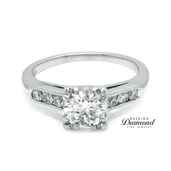 Vintage Diamond Engagement Ring in Platinum Raleigh Diamond Raleigh, NC