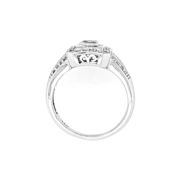 Diamond Cluster Style Engagement Ring in 14k White Gold Image 3 Raleigh Diamond Raleigh, NC
