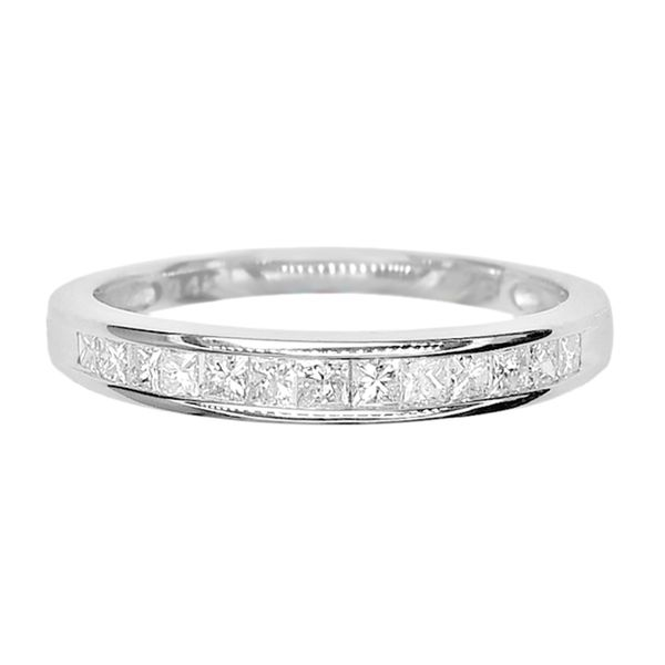 Estate 14k White Gold 1/2ctw Diamond Channel Band Raleigh Diamond Raleigh, NC