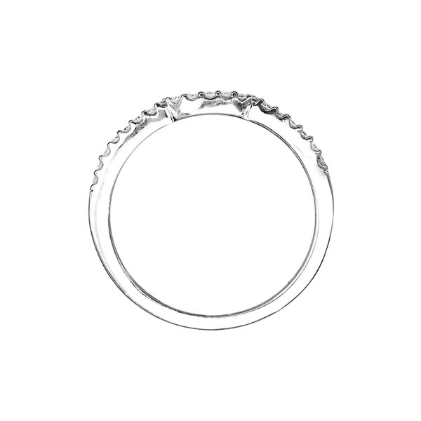 Estate 14k White Gold Diamond Contour Band Image 3 Raleigh Diamond Raleigh, NC