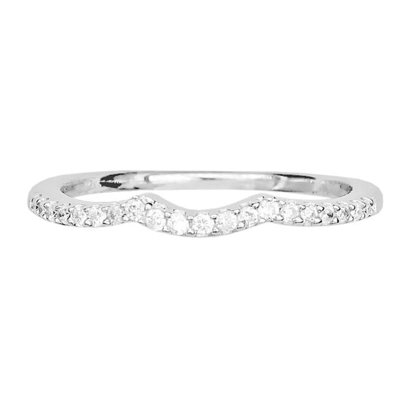 Estate 14k White Gold Diamond Contour Band Raleigh Diamond Raleigh, NC