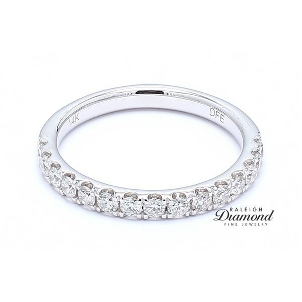 French Set Diamond Band 0.53 CTW 14k White Gold Image 2 Raleigh Diamond Raleigh, NC