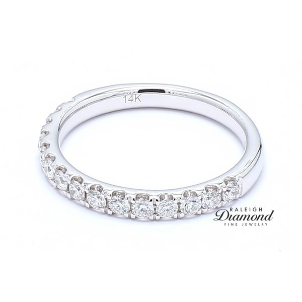 French Set Diamond Band 0.53 CTW 14k White Gold Raleigh Diamond Raleigh, NC