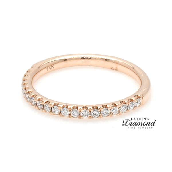 Shared Prong Diamond Wedding Band 14k rose Gold 0.25 CTW Image 2 Raleigh Diamond Raleigh, NC