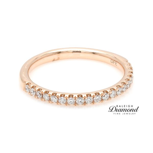 Shared Prong Diamond Wedding Band 14k rose Gold 0.25 CTW Image 3 Raleigh Diamond Raleigh, NC