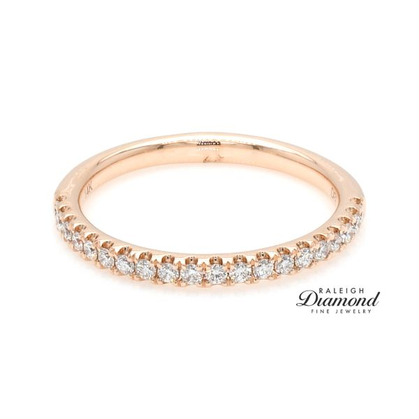 Shared Prong Diamond Wedding Band 14k rose Gold 0.25 CTW Raleigh Diamond Raleigh, NC