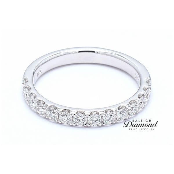 French Set Diamond Band 0.65 CTW 14k White Gold Raleigh Diamond Raleigh, NC