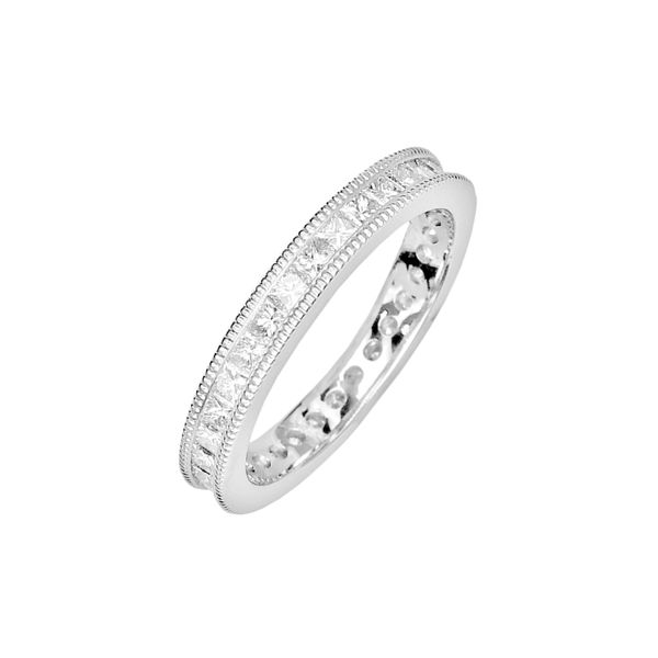 Estate 1.70ctw Diamond Eternity Band Image 2 Raleigh Diamond Raleigh, NC