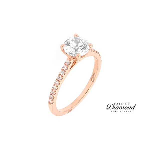 Coast Fishtail Cathedral 0.16cttw Diamond Semi Mount Ring 14k Rose Gold Image 2 Raleigh Diamond Raleigh, NC