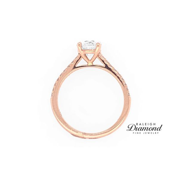 Coast Fishtail Cathedral 0.16cttw Diamond Semi Mount Ring 14k Rose Gold Image 3 Raleigh Diamond Raleigh, NC