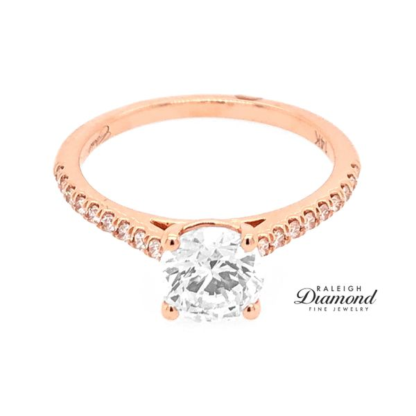 Coast Fishtail Cathedral 0.16cttw Diamond Semi Mount Ring 14k Rose Gold Raleigh Diamond Raleigh, NC