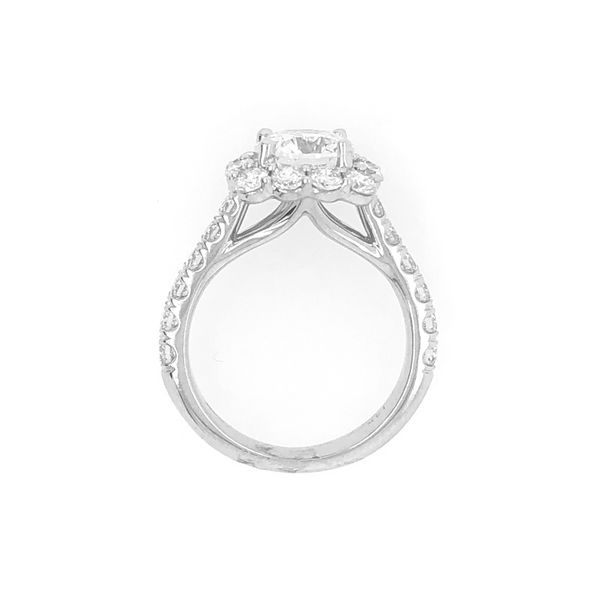 Coast Halo 1.50cttw Diamond Semi Mount Ring 14k White Gold Image 3 Raleigh Diamond Raleigh, NC