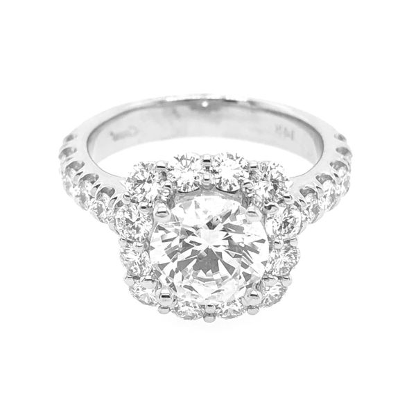 Coast Halo 1.50cttw Diamond Semi Mount Ring 14k White Gold Raleigh Diamond Raleigh, NC