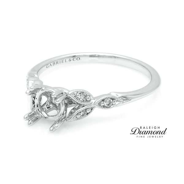 Gabriel New York Vintage Style Semi-mount Engagement Ring Image 2 Raleigh Diamond Raleigh, NC