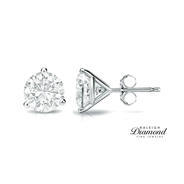 0.75 cttw Diamond Solitaire Stud Earrings 14k White Gold Raleigh Diamond Raleigh, NC