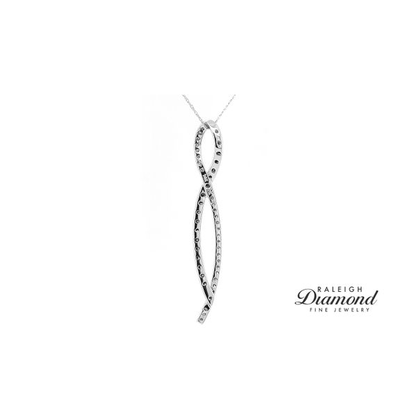 Le Vian Ribbon Pendant Chocolate and Vanilla Diamonds in 14k White Gold Image 2 Raleigh Diamond Raleigh, NC