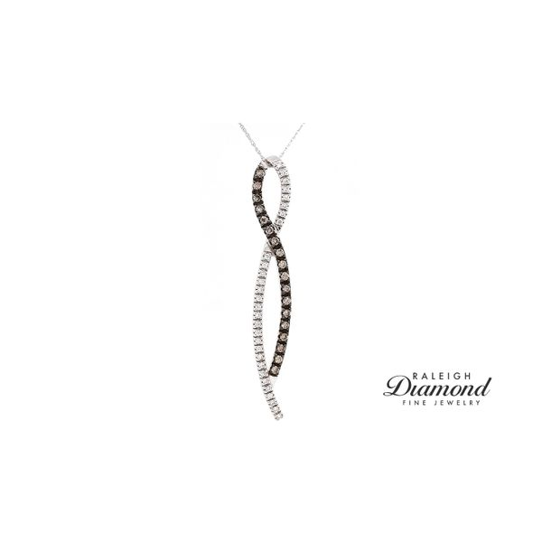 Le Vian Ribbon Pendant Chocolate and Vanilla Diamonds in 14k White Gold Raleigh Diamond Raleigh, NC