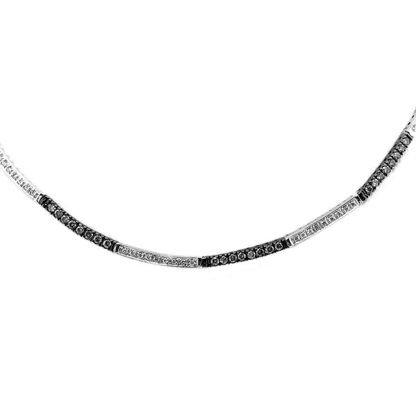 Le Vian Collar of Chocolate and Vanilla Diamonds in 14k White Gold Image 3 Raleigh Diamond Raleigh, NC