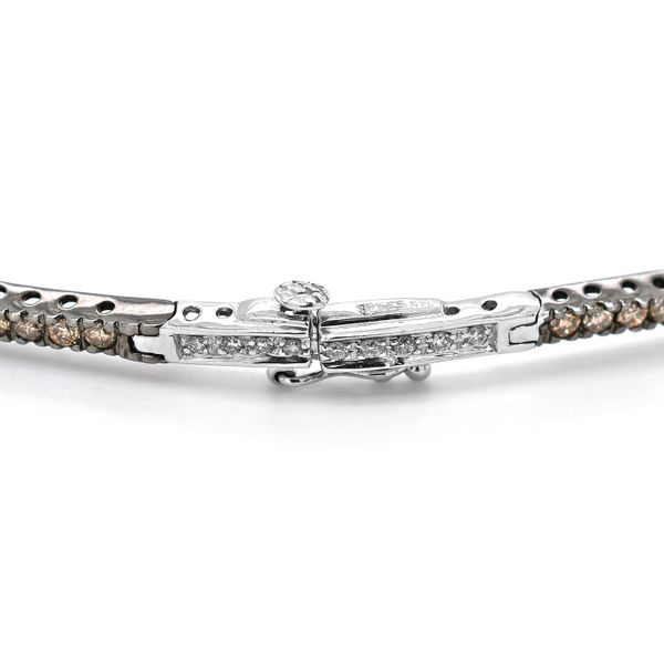Le Vian Collar of Chocolate and Vanilla Diamonds in 14k White Gold Image 4 Raleigh Diamond Raleigh, NC