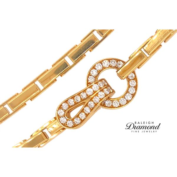 Cartier Agrafe Necklace with Diamonds in 18k Yellow Gold Image 2 Raleigh Diamond Raleigh, NC