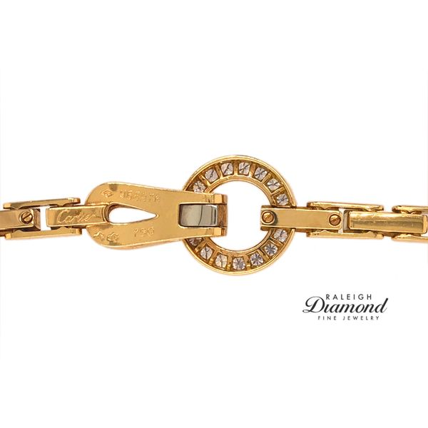 Cartier Agrafe Necklace with Diamonds in 18k Yellow Gold Image 4 Raleigh Diamond Raleigh, NC