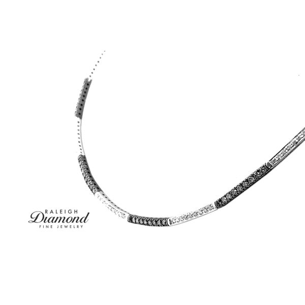 Le Vian Collar of Chocolate and Vanilla Diamonds in 14k White Gold Raleigh Diamond Raleigh, NC