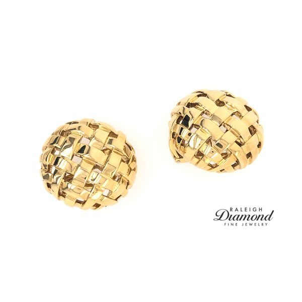 Tiffany and Co. Vannerie 18k Yellow Gold Earrings Raleigh Diamond Raleigh, NC